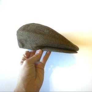 Vintage tweed Stetson men's newsboy cap hat